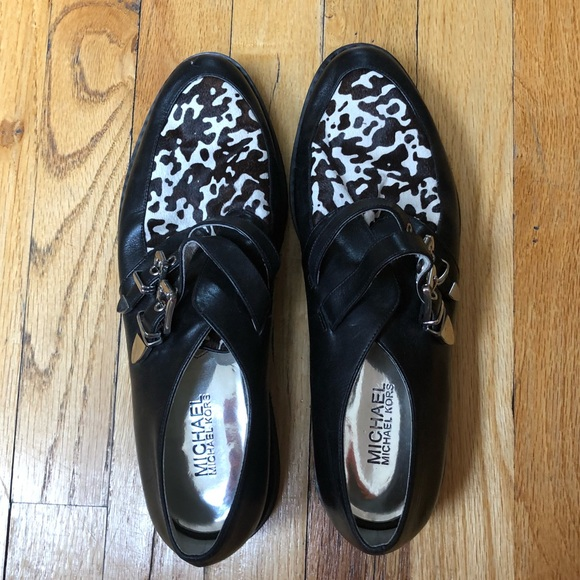 MICHAEL Michael Kors Shoes - Michael Michael Kors Cow Print Loafers Size 9